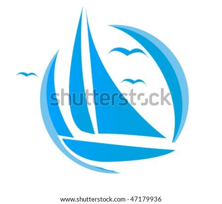 Clip Art Yacht. stock vector : sail clip-art