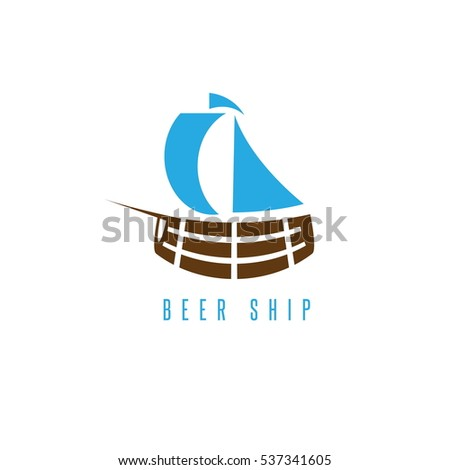 sail ship in form of cask