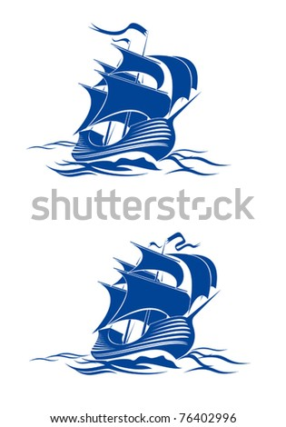 sail ship in ocean water for