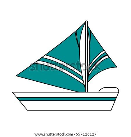Sailboat icon design