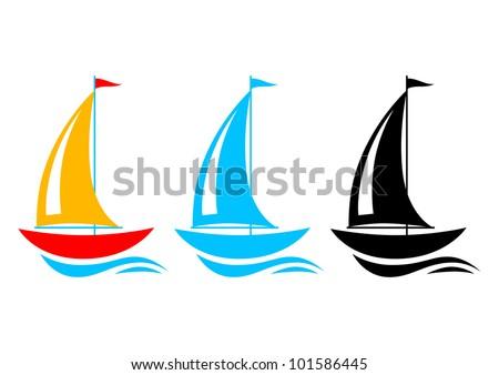 Sailboat icons