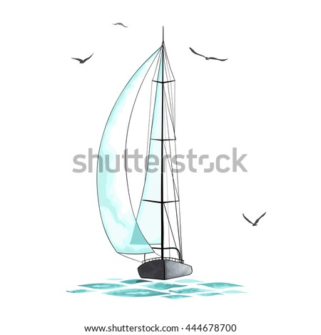 sailboat in the sea and