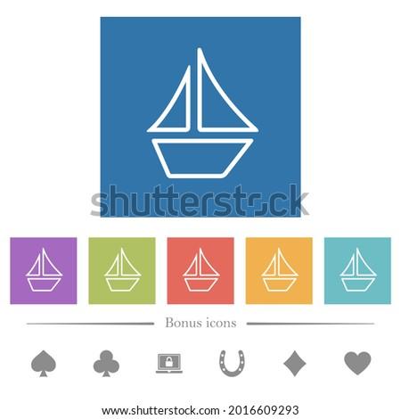 sailboat outline flat white