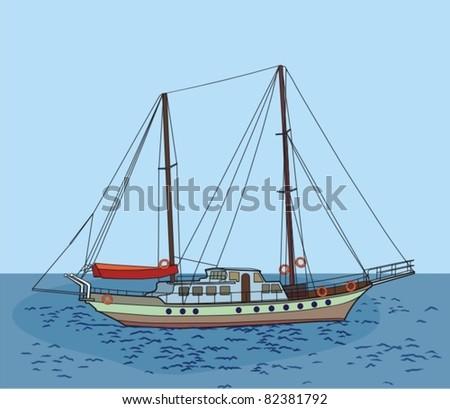 sailboat, sailing ship