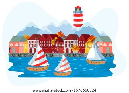 sailboats near scandinavian