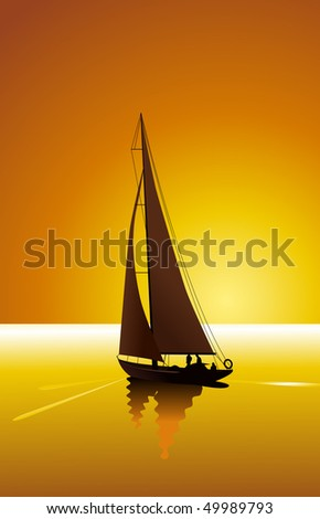 sailing and sunset sky