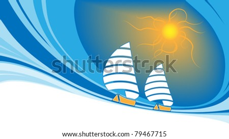 Sailing background - stock vector
