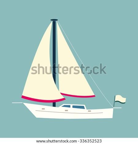 Sailing boat (flat style)