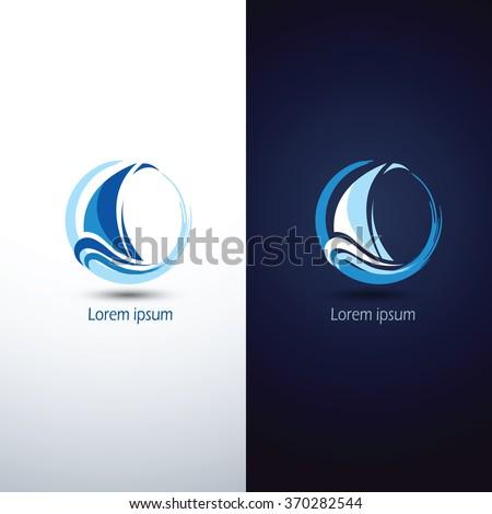 Sailing boat icon symbol ,vector illustration