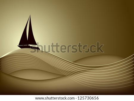 sailing boat in the sea at