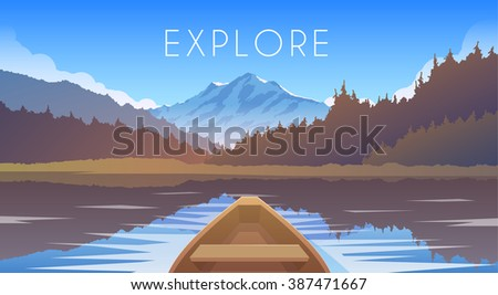 sailing boat mountain