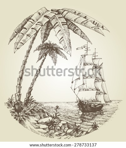 sailing boat on sea and
