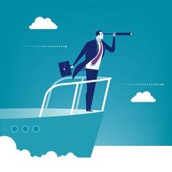Sailing. Concept business illustration