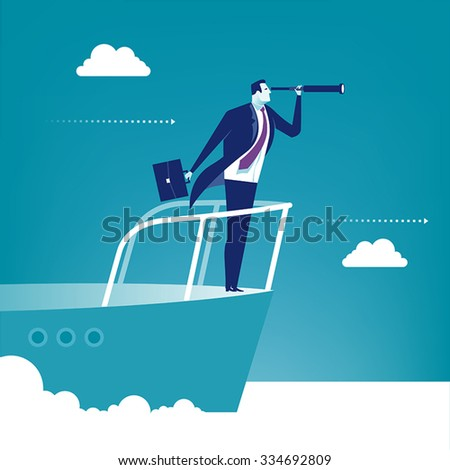 Sailing. Concept business illustration