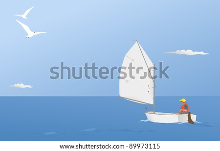 sailing on a summer breeze
