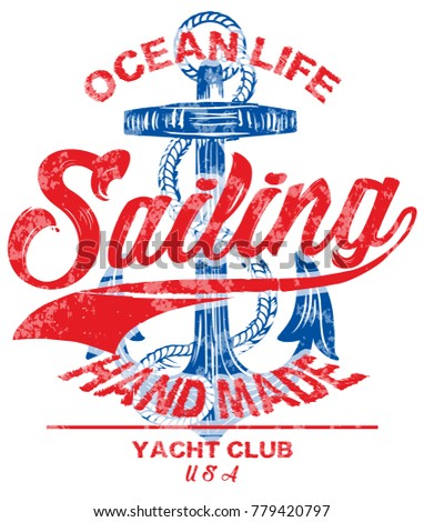 sailing poster design template