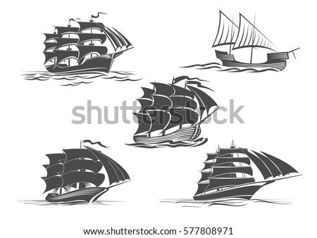 sailing ship or frigate warship