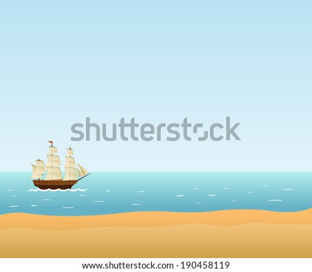 Sailing Ship Vector background