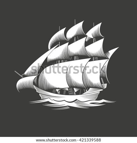 sailing ship vintage vessel