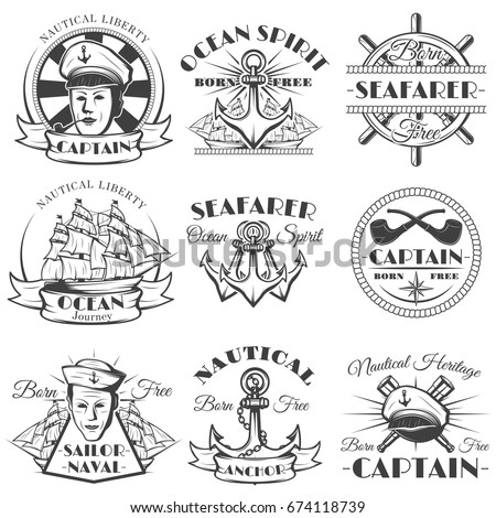 sailor naval vector vintage