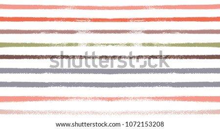 Sailor Stripes Seamless Vector Summer Pattern. Autumn Colors Blue, Turquoise, Pink, Purple, Grey, White Stripes. Hipster Vintage Retro Textile Design.