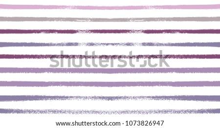 Stock Photo Sailor Stripes Seamless Vector Summer Pattern. Autumn Colors Blue, Turquoise, Pink, Purple, Grey, White Stripes. Hipster Vintage Retro Textile Design. Creative Horizontal Banner. Watercolor Prints.