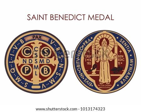 Saint Benedict Medal Colored
