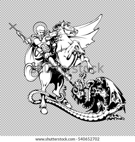 saint george on horseback with