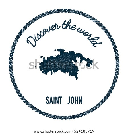 saint john map in vintage