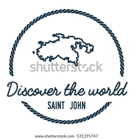 saint john map outline vintage