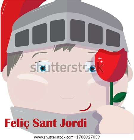 saint jordi and a rose with