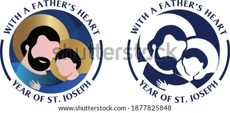 Saint Joseph Logo - Year of St. Joseph - Joseph icon Photo stock ©