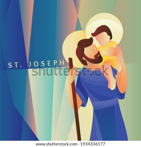 Saint Joseph St. Joseph with Jesus Christ, the Patron Saint of the Catholic Church
