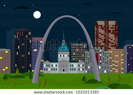 saint louis  missouri skyline