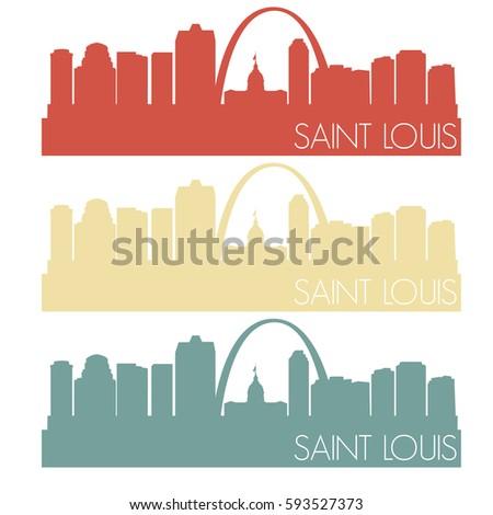 saint louis skyline silhouette...