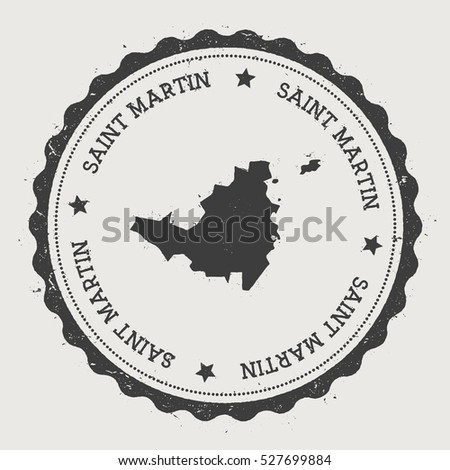 saint martin vector sticker