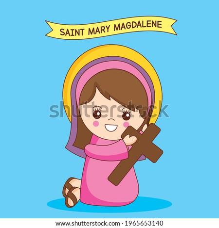 saint mary magdalene cartoon