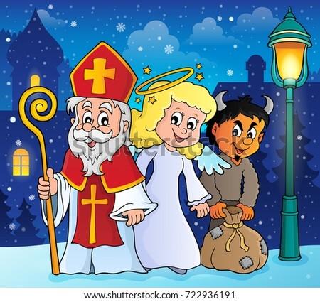 Saint Nicholas Day theme 2 - eps10 vector illustration.