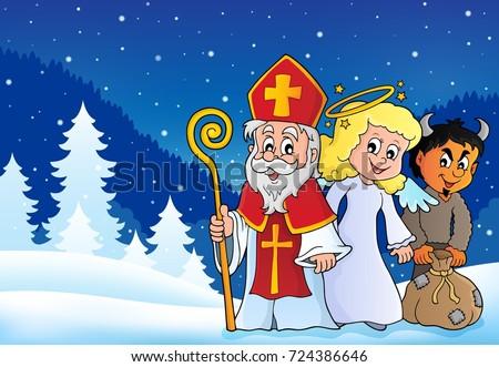 Saint Nicholas Day theme 4 - eps10 vector illustration.