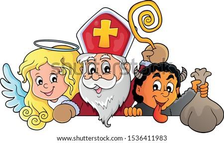 Saint Nicholas Day topic image 1 - eps10 vector illustration.