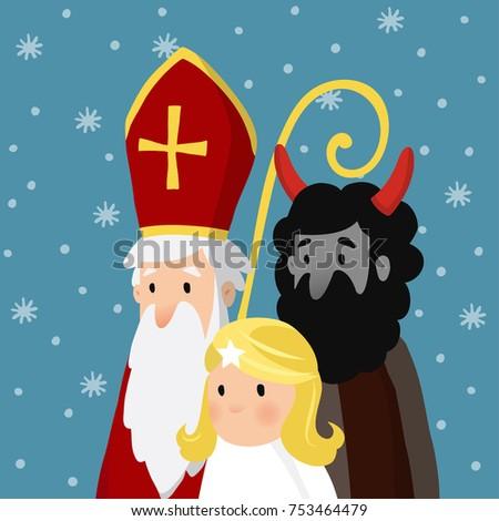 saint nicholas with angel