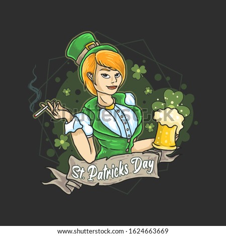 saint patrick irish lady beer
