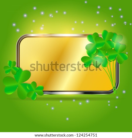 Saint Patrick`s day background vector illustration