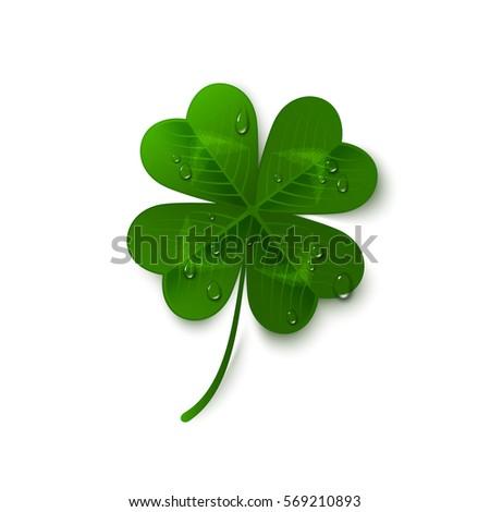 saint patrick's day four leaf