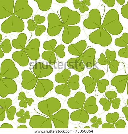 Saint Patrick's Day seamless pattern wallpaper (EPS10)