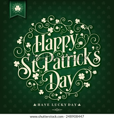 Saint Patrick's Day Typographic Background