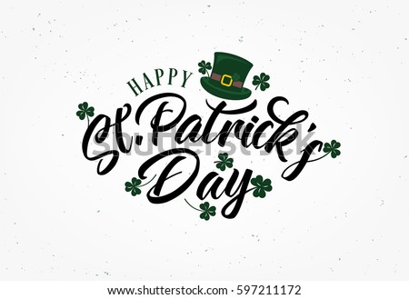 Saint Patrick's Day Typographical Background #597211172