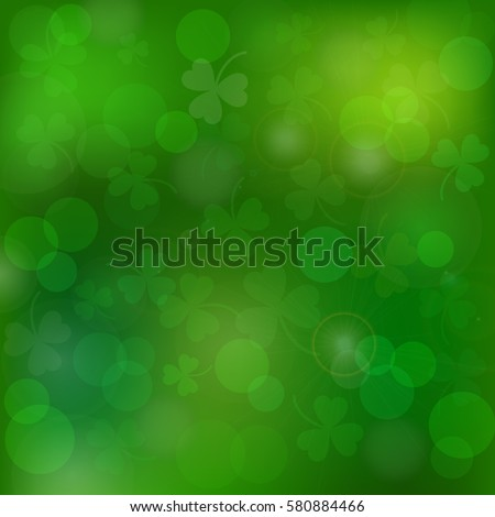 Saint Patrick's day vector green background