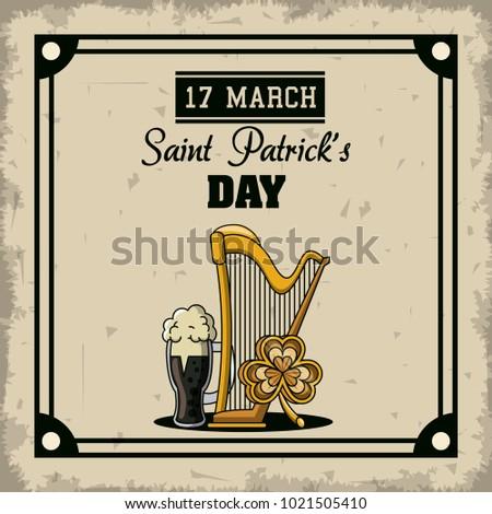 Saint patricks day cartoons card