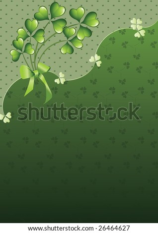 saint patricks day wallpapers. Saint Patricks Day clover on a green